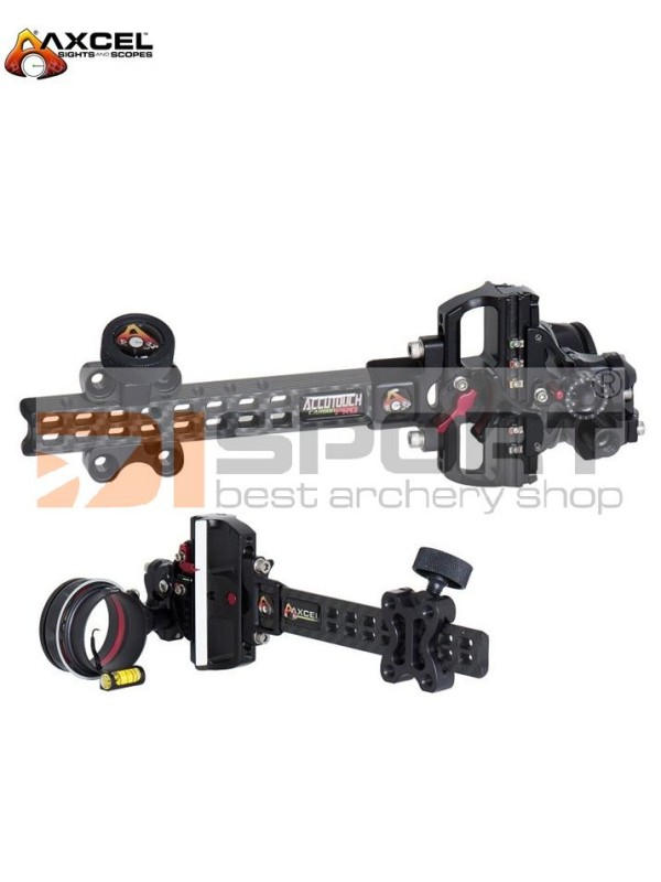 AXCEL ACCOUTOUCH CARBON plus PRO SLIDER 3D MERILNA -AV31 SCOPE with SINGLE PIN