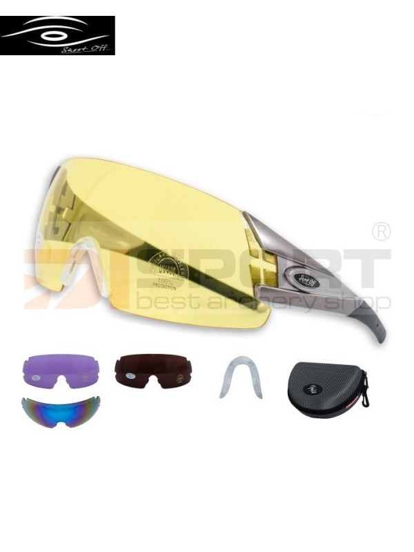 SHOOT-OFF shooting glasses SET OUTDOOR 2 - 4 lenses