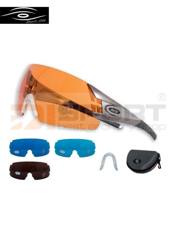 SHOOT-OFF shooting glasses SET OUTDOOR 4 - 4 lenses