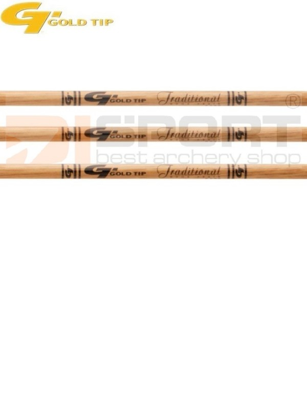 cevke GOLD TIP TRADITIONAL wood grain .006