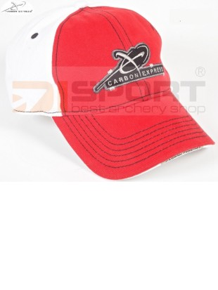 CARBON EXPRESS CAP ¨SHOOT BETTER¨   RED/WHITE