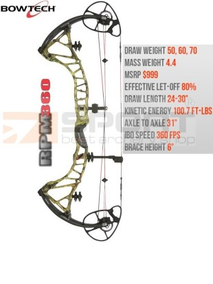 compound bow BOWTECH 360 RPM