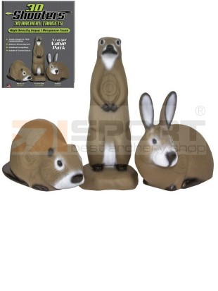 FIELD LOGIC 3D TARČA ŽIVALI 3-pack set (MUSKRAT, RABBIT, PRAIRIE DOG)