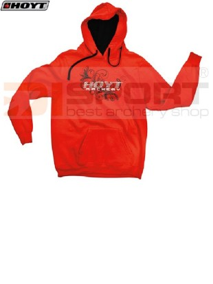 HOYT LADIES BLING HOODY s kapuco RED