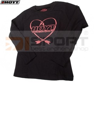 HOYT LADIES LONG SLEEVE BLACK-HEART