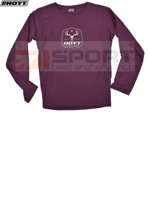 HOYT LONG SLEEVE OUTFITTER VINE RED SHIRT