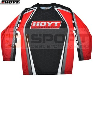 HOYT LONG SLEEVE PERFORMANCE jersey BLACK/RED