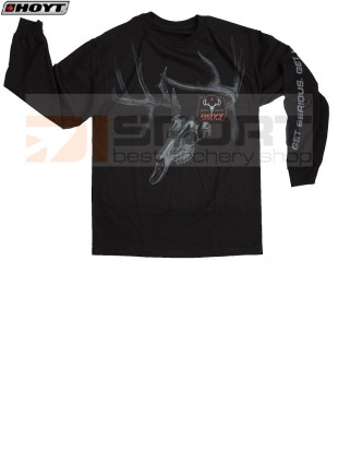 HOYT LONG SLEEVE SHADOW SKULL BLACK