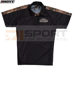HOYT TRIM BLACK/CAMO POLO SHIRT
