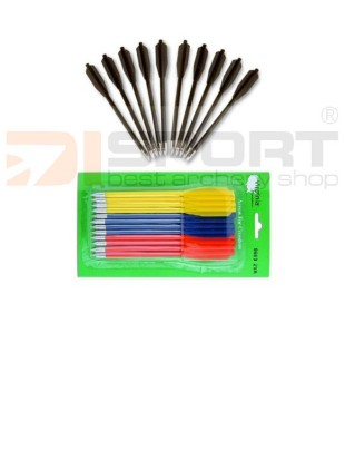 ARROWS FOR CROSSBOW PISTOL PVC 12/1 PACK