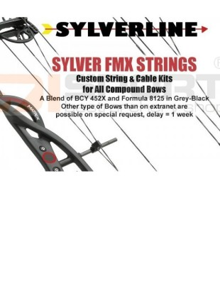 TETIVA IN KABLI SET COMPOUND SYLVER BOWSTRINGS CUSTOM