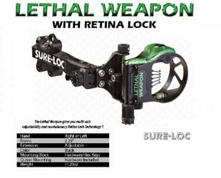 SURE-LOC LEATHAL WEAPON WITH RETINA LOCK 6¨ 5 PIN